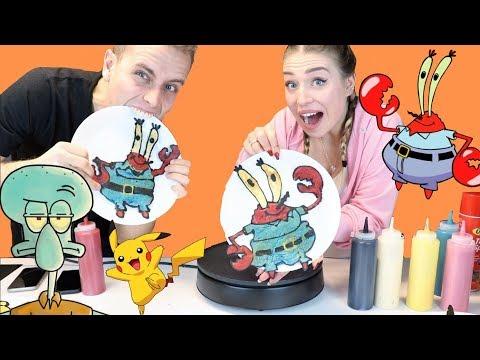 Pancake Art Challenge - Bibi vs Julian !! 😈 | Julienco