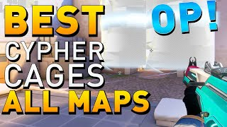 VALORANT - BEST Cyṗher One Way Cages & Tripwire Spots ALL MAPS (Cypher Traps Guide)