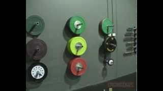 Wall-mounted Bumper Plate Storage