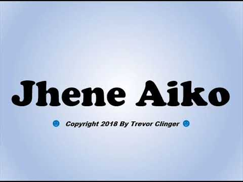 How To Pronounce Jhene Aiko - 동영상