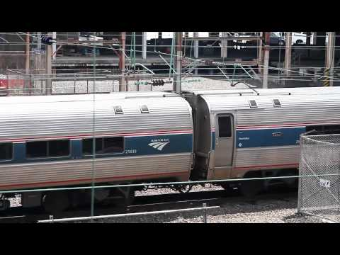 Amtrak Pennsylvanian Train No 43 with Heritage Unit P42DC No. 145