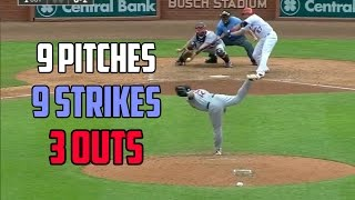 MLB | 9 Pitches - 9 Strikes - 3 Outs (Immaculate Inning Compilation)