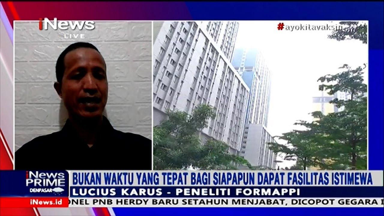 Kritik Isoman Anggota DPR, Formappi: Ada Niat untuk Dapat Fasilitas Istimewa #iNewsPrime 28/07
