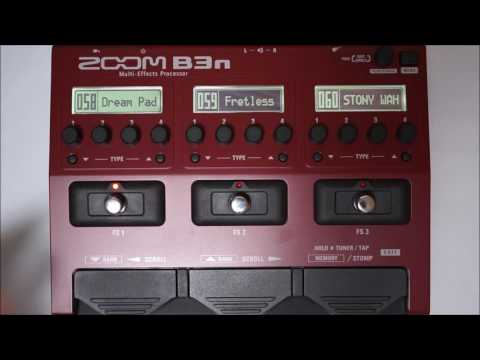 ZOOM B3N B3next Multi-Effects Processor for Bass PATCH 055-063