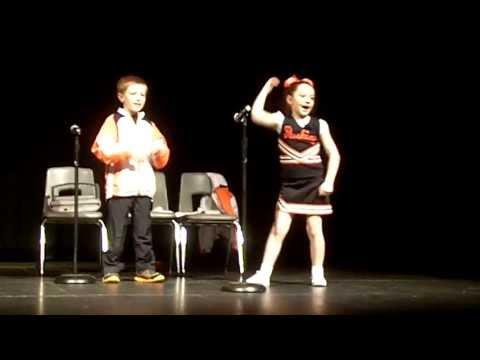 Saturday Night Live Cheerleader Skit-- Seymour Elementary school talent show April 2013