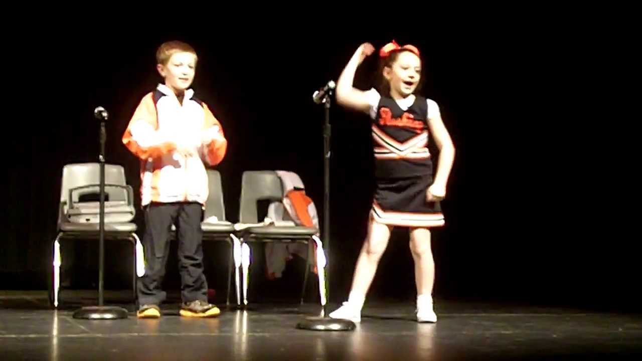 saturday night live cheerleader skit-- seymour elementary school