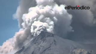 Seis comunidades fueron evacuadas por actividad del Volcán de Fuego