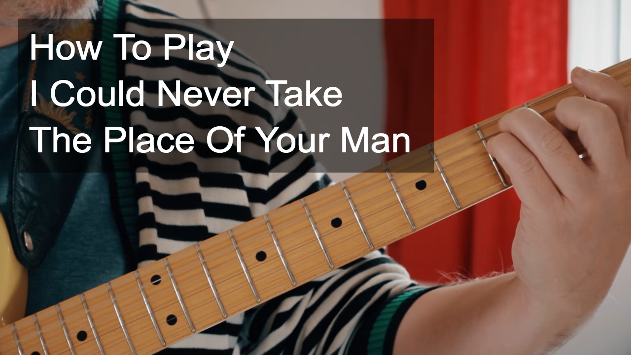 I Could Never Take The Place Of Your Man Chords Prince Guitar