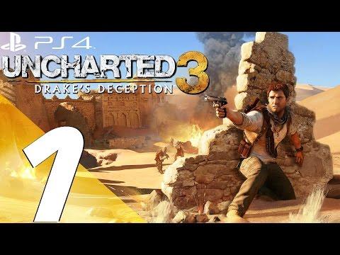 Uncharted 3 Drake's Deception PS4 - Walkthrough Part 1 - Prologue & Review [1080p 60fps]