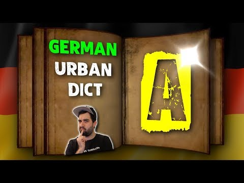 GERMAN URBAN DICTIONARY - Letter A 📖 A native speaker explains colloquial words & slang! | VlogDave