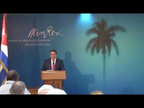 Conferencia de Prensa del Ministro de Relaciones Exteriores de Cuba