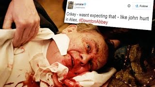 Shocked viewers take to Twitter after Earl Of Grantham's gory ulcer explosion in Downton Abbey