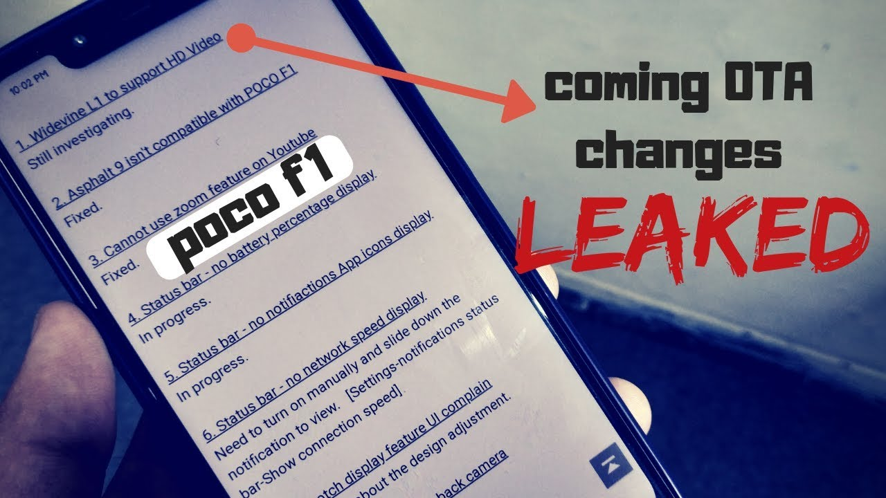 upcoming ota update changes of poco f1 leaked (widevine L1 certificate also  coming)