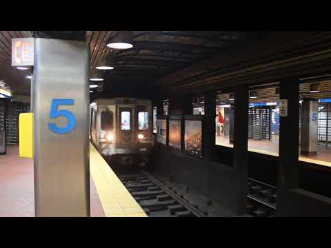 SEPTA Market Frankford Line train enters 5th Street
