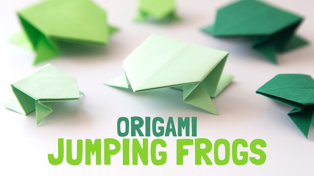 How to make a paper jumping frog origami - How To Make Origami ... | 720x1280