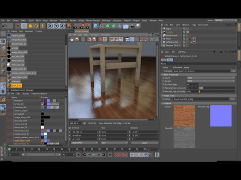Substance integration in Cinema 4D - Introduction