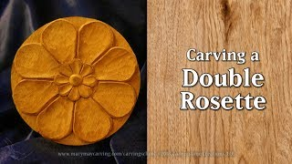 Carving a Double Rosette - Complete Lesson