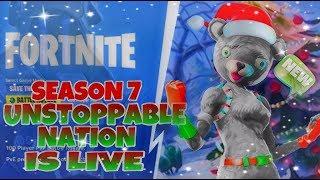 fortnite season 7 grind unlocking max battle pass skin// 15,000+kills 230+wins// JOIN THE UsN FAMILY