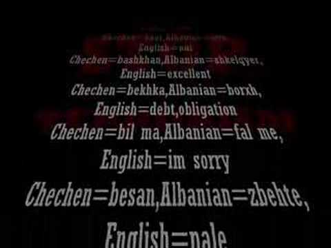 Albanian and Chechenian Language Similarity