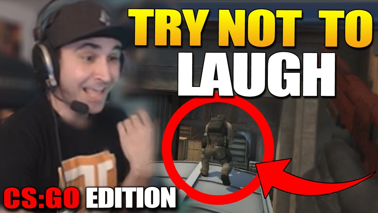 TRY NOT TO LAUGH CSGO VERSION 5   HUGE FUNNY FAIL