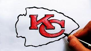 Como Desenhar a logo do Kansas City Chiefs - (How to Draw Chiefs logo) - NFL LOGOS #13