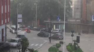 piazza sant'Avendrace allagata