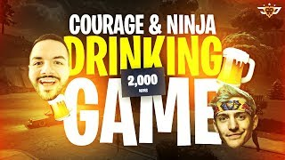 COURAGE AND NINJA DRINKING GAME FOR 2,000 WINS! (Fortnite: Battle Royale)
