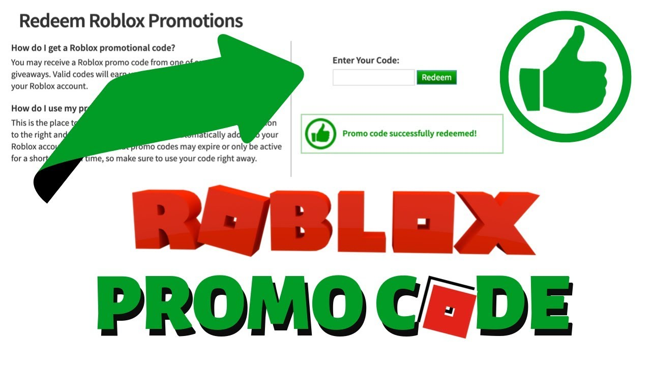 Roblox FREE Virtual Item Promo Code (2019) Working Roblox ...