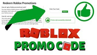 Roblox FREE Virtual Item Promo Code (2019) Working Roblox Codes