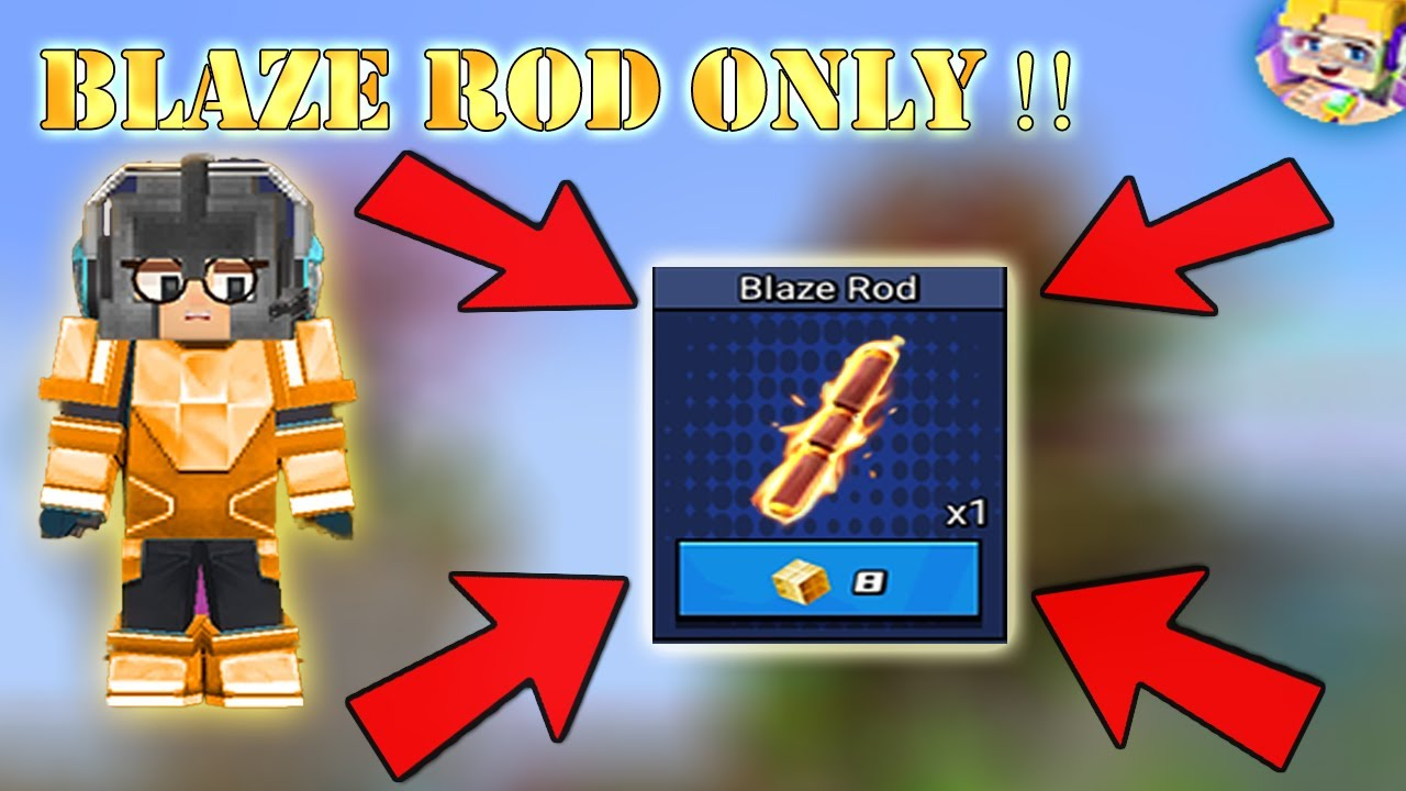 Can I WIN With Only BLAZE ROD In Bed Wars | Blockman Go Gameplay (Android , iOS)