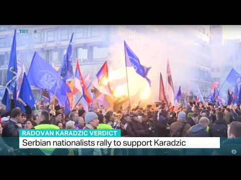 Serbian nationalists rally to support Karadzic