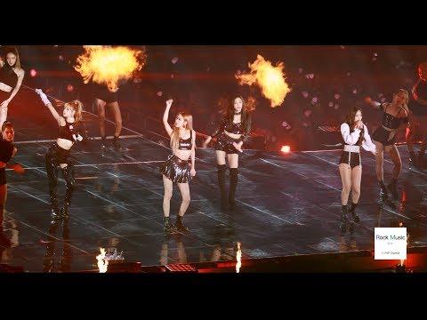 블랙핑크(BLACK PINK)불장난 Playing With Fire [4K 직캠]@181111 락뮤직