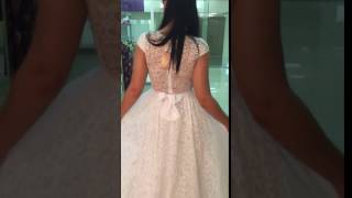Свадебное платье кружевное на сетке