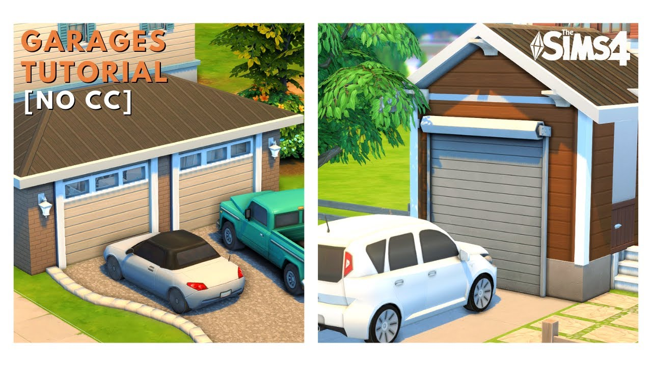 How To Build A Garage In The Sims 4 Sims 4 Tutorial Youtube
