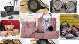 Handbag collections 2020//watch collection// brindha beautylife
