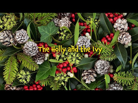The holly and the ivy (lyrics video for karaoke)