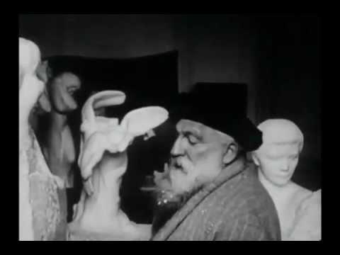 Auguste Rodin em seu atelier