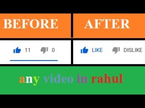 how to hide like dislike on your youtube channel (for normal windows -  7 8 9)