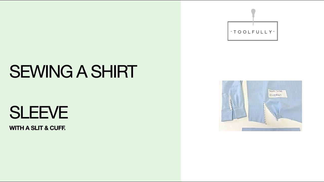 Sewing a shirt sleeve, Slit & Cuff. Basic finishing with bias opening.