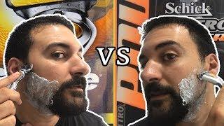 Gillette Fusion 5 Proshield Power vs Schick Quattro Power - Beard Shaving Review