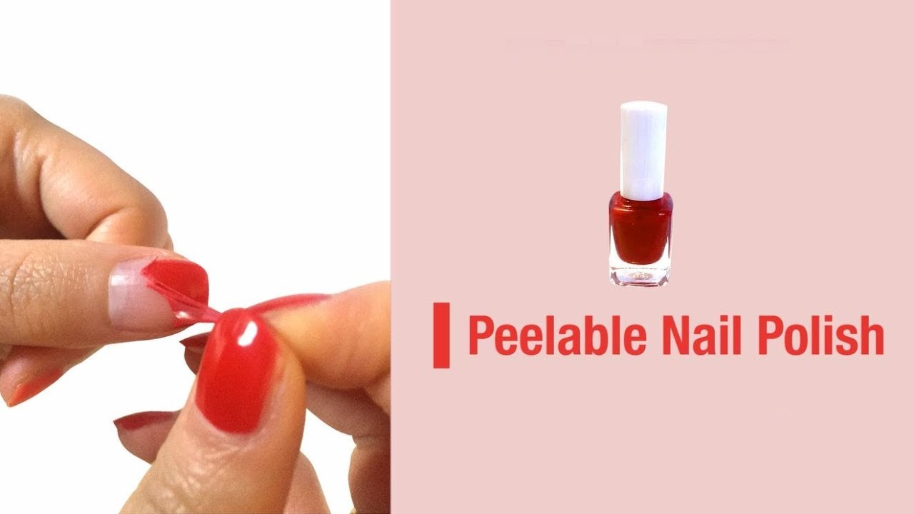 How to make a Peelable Nail Polish - YouTube