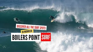 Surfing Boilers Point - world class surf breaks - Morocco road trip 2018 in search of epic surf