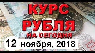 Смотреть видео Курс доллара на сегодня, курс рубля на сегодня (обзор от 12 ноября 2018 года) онлайн