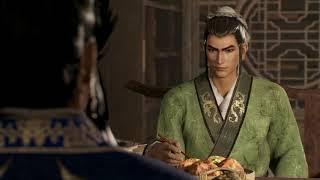 Cao Cao feast with Liu Bei