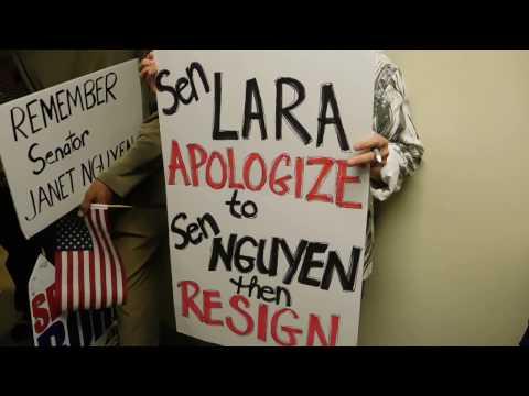 Senator Ricardo Lara Staff Locks Citizens Out: CALL POLICE & Citizen Presents Letter