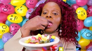 MAKEUP TSK ASMR Autonmouous MOUTH SOUNDS | EATING CUTE Jelly...