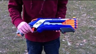Nerf N-Strike Elite Rough Cut 2x4 - Range Test (Stock)