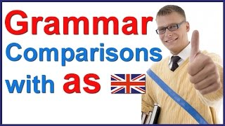 Comparing things with AS | English grammar class