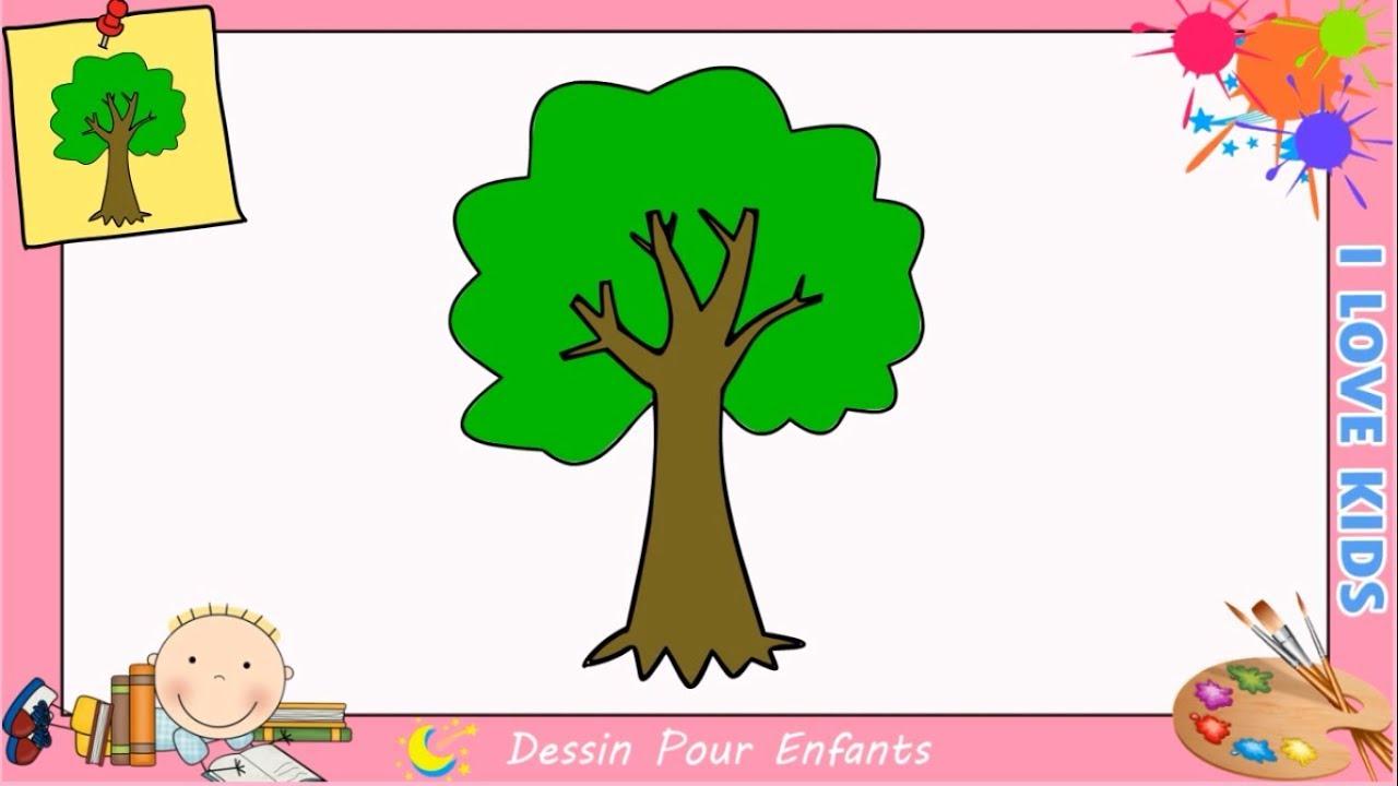 Comment dessiner un arbre facilement mettre jour pour enfants 1 youtube - Comment dessiner un enfant ...
