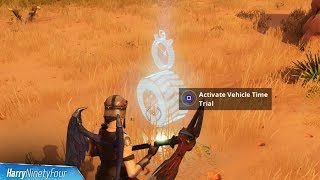 3 Easy Vehicle Time Trial Locations - Fortnite Battle Royale (Season 6 Challenge)
